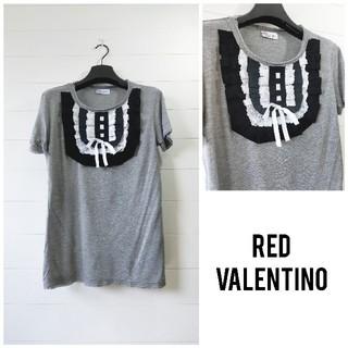 レッドヴァレンティノ(RED VALENTINO)の「美品」RED VALENTINO レッドバレンチノ tシャツ レディース(Tシャツ(半袖/袖なし))
