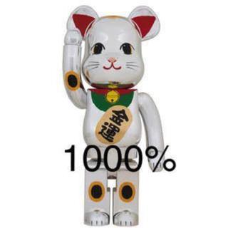 メディコムトイ(MEDICOM TOY)のBE@RBRICK 招き猫 銀メッキ 弐 1000% MCT TOKYO(その他)