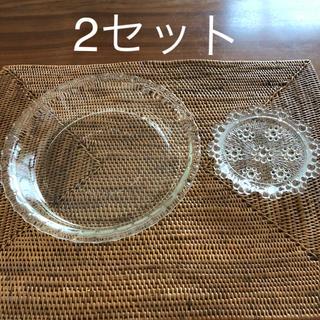 パイレックス(Pyrex)のPYREX耐熱ガラス皿  薬味用ガラス小皿(食器)