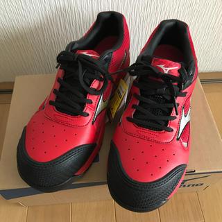 MIZUNO - 安全靴 ミズノ 赤/黒
