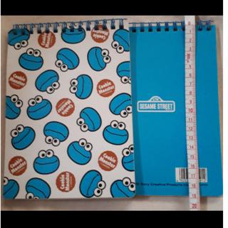 セサミストリート(SESAME STREET)の2冊クッキーモンスター♥両面ノート(ノート/メモ帳/ふせん)