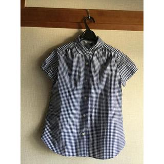 ニーム(NIMES)のnimes ニーム 丸襟ギンガムチェックシャツ(シャツ/ブラウス(半袖/袖なし))