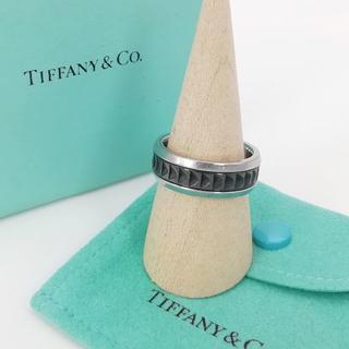 ティファニー(Tiffany & Co.)の希少 美品 ティファニー パロマ キャリパー メンズ リング GG13(リング(指輪))