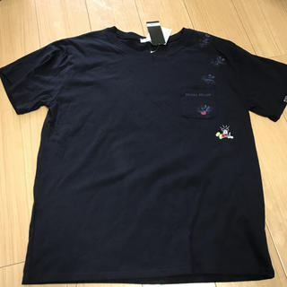 ミッキーマウス(ミッキーマウス)の新品タグ付 ミッキーマウス ミッキー  Tシャツ  XLサイズ ネイビー(Tシャツ(半袖/袖なし))