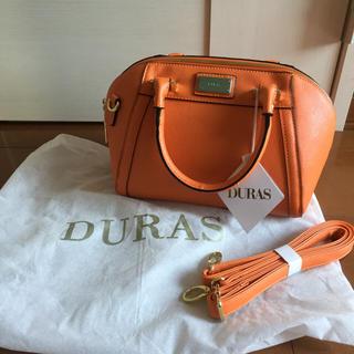 デュラス(DURAS)のDURASオレンジショルダーBAG(ショルダーバッグ)