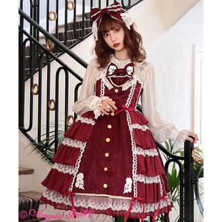 アンジェリックプリティー(Angelic Pretty)のangelic pretty ジャンパースカートとカチューシャセット(ひざ丈ワンピース)