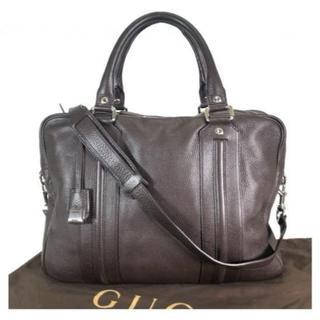 グッチ(Gucci)のグッチ レザー 2way ブリーフケース ビジネスバッグ(ビジネスバッグ)