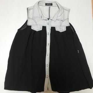 ジェニィ(JENNI)のJENNI 150 シースルーのノースリーブシャツ(ブラウス)