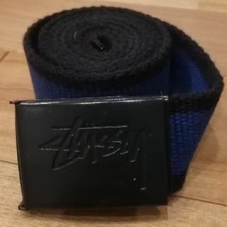 ステューシー(STUSSY)のstussy ステューシー メンズ ベルト 青×黒(ベルト)