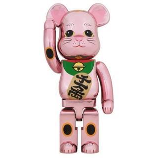 メディコムトイ(MEDICOM TOY)のBE@RBRICK 招き猫 桃金メッキ 1000% 3体 Medicom Toy(その他)
