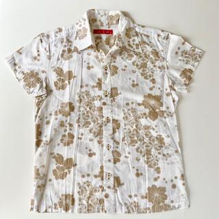 アトリエサブ(ATELIER SAB)のA.S.M エーエスエム 白 メンズ シャツ 半袖 トップス 花柄 トップス  (Tシャツ/カットソー(半袖/袖なし))