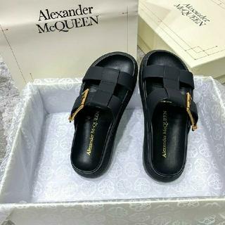 アレキサンダーマックイーン(Alexander McQueen)のアレキサンダーマックイーン☆スライドサンダル ブラック(サンダル)