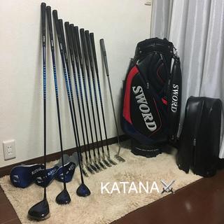カタナ(KATANA)の⛳️100切り90切り‼️KATANA⚔豪華メンズゴルフセット11本‼️(クラブ)