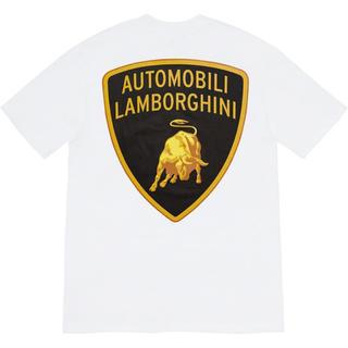 シュプリーム(Supreme)のSupreme Lamborghini Tee 白 Mサイズ(Tシャツ/カットソー(半袖/袖なし))