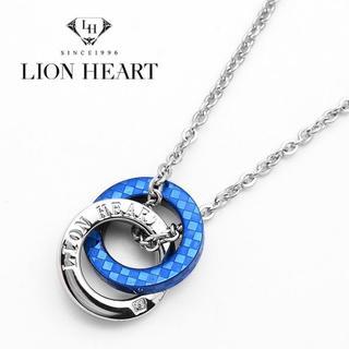 ライオンハート(LION HEART)のライオンハート ネックレス メンズ ダブルリング ブルー 青 ブランド(ネックレス)