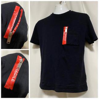 クリスチャンダダ(CHRISTIAN DADA)のCHRISTIAN DADA 止水ジップ サマーウール Tシャツ 48 L 黒(Tシャツ/カットソー(半袖/袖なし))