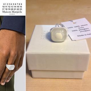 マルタンマルジェラ(Maison Martin Margiela)の新品■S■マルジェラ 18ss■ホワイトリング■指輪■8441 (リング(指輪))