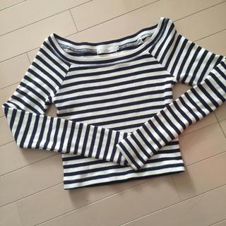 ココディール(COCO DEAL)のボーダーオフショルトップス(Tシャツ(長袖/七分))