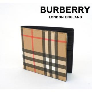 バーバリー(BURBERRY)のBURBERRY バーバリー チェック 折りたたみ財布 メンズ(折り財布)