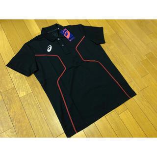 アシックス(asics)の新品未使用 asics D1ポロシャツ黒2XLアシックストレーニング定価5390(ウェア)