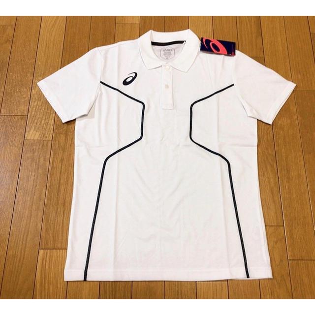 asics(アシックス)の新品未使用asicsD1ポロシャツ白Mサイズアシックストレーニング定価5390 スポーツ/アウトドアのテニス(ウェア)の商品写真