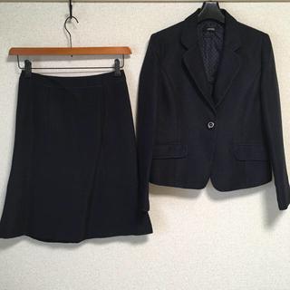シューラルー(SHOO・LA・RUE)のシューラルー スカートスーツ S W66 濃紺 ラメ 入学入園 DMW(スーツ)