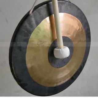 銅鑼(ドラ) 直径40センチ 演奏3点セット(その他)
