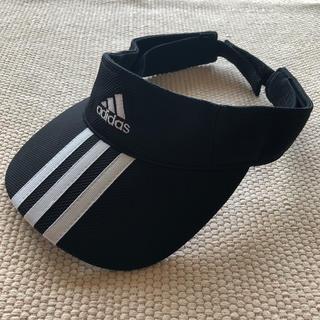 アディダス(adidas)のアディダス サンバイザー ブラック フリーサイズ(57〜59㎝)(その他)