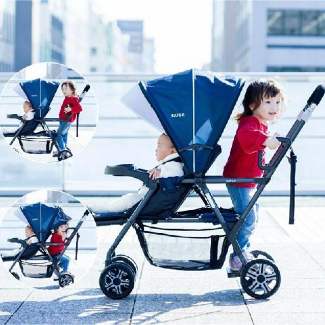 KATOJI(カトージ)のゆーみん様KATOJI 2人でゴー 2人乗りベビーカー キッズ/ベビー/マタニティの外出/移動用品(ベビーカー/バギー)の商品写真