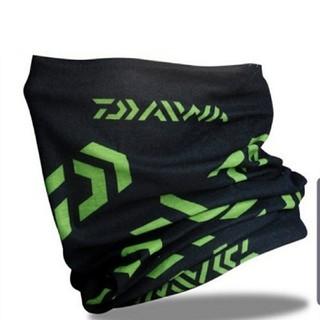 ダイワ ロゴ フェイスガード フェイスマスク ブラック×グリーン(ウエア)