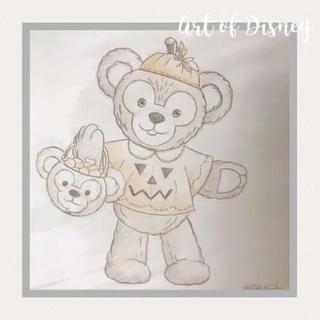 ディズニー(Disney)のArt Of Disney 世界に一枚 ラフスケッチ ダッフィー ハロ(絵画/タペストリー)