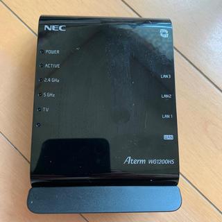 エヌイーシー(NEC)の値下げ、格安、NEC wifiルーターaterm wg1200hs(その他)