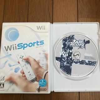 ウィー(Wii)のWiiソフト2点セット 大乱闘スマッシュブラザーズX&Wiiスポーツ(家庭用ゲームソフト)