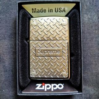 シュプリーム(Supreme)のSupreme Diamond Plate Zippo 新品 未使用(タバコグッズ)