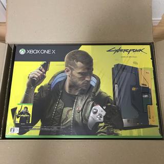エックスボックス(Xbox)のxbox one x サイバーパンク2077 リミテッドエディション 新品未開封(家庭用ゲーム機本体)