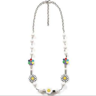 オフホワイト(OFF-WHITE)のSALUTE  EVAE+MOB Flower anarchy necklace(ネックレス)