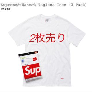 シュプリーム(Supreme)のシュプリーム ヘインズ コラボ T Lサイズ(Tシャツ/カットソー(半袖/袖なし))
