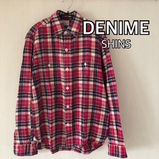 ドゥニーム(DENIME)のDENIME ドゥニーム リネン チェックシャツ SHINS 麻 M(シャツ)
