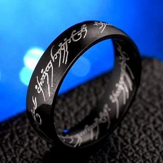 31号 ステンレス鋼 ブラックリング K18BGF 指輪(リング(指輪))