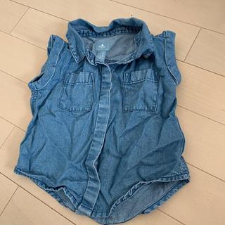 ベビーギャップ(babyGAP)の美品 とろみシャツ トップス デニム ベビーギャップ(シャツ/カットソー)