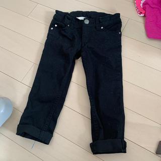 エイチアンドエム(H&M)の美品 H&M  ストレッチスキニーデニム ブラック 90(パンツ/スパッツ)