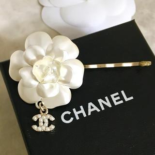シャネル(CHANEL)の正規品 シャネル ヘアピン フラワー ココマーク パール カメリア ラメ 真珠花(ヘアピン)
