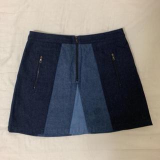 ビーシービージーマックスアズリア(BCBGMAXAZRIA)のほぼ未使用 デニムスカート ※10/18までの出品(ミニスカート)