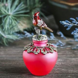 赤い鳥が美しい香水瓶 【694】