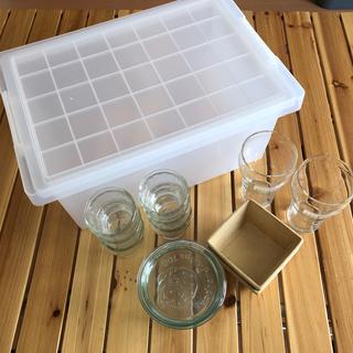 ムジルシリョウヒン(MUJI (無印良品))の無印良品ケース・WECKなどガラスセット(容器)