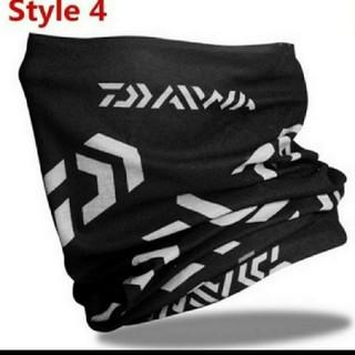 ダイワ ロゴ フェイスガード フェイスマスク ブラックホワイト定形外発送全国(ウエア)
