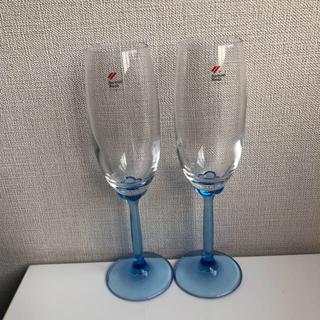 ボルミオリロッコ(Bormioli Rocco)のBormioli Rocco シャンパングラス ペア イタリー製(グラス/カップ)