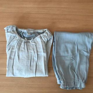 ムジルシリョウヒン(MUJI (無印良品))の無印良品パジャマ  キッズ 女の子 110  ガーゼ(パジャマ)