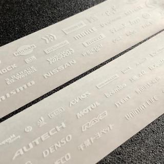 ミニ四駆 透明地デカール(白文字)(模型/プラモデル)