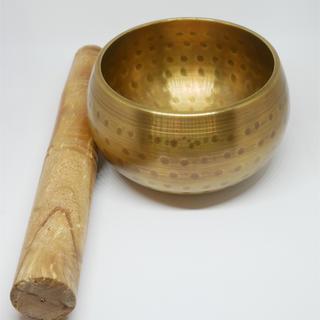 ゴールドの高音質シンキングボール9cm口(ヨガ)
